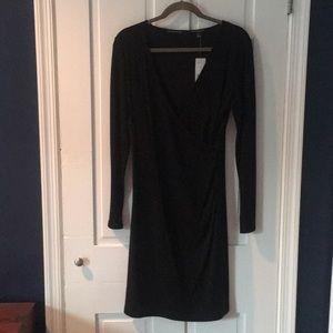 NWT Banana Republic faux wrap dress, size M